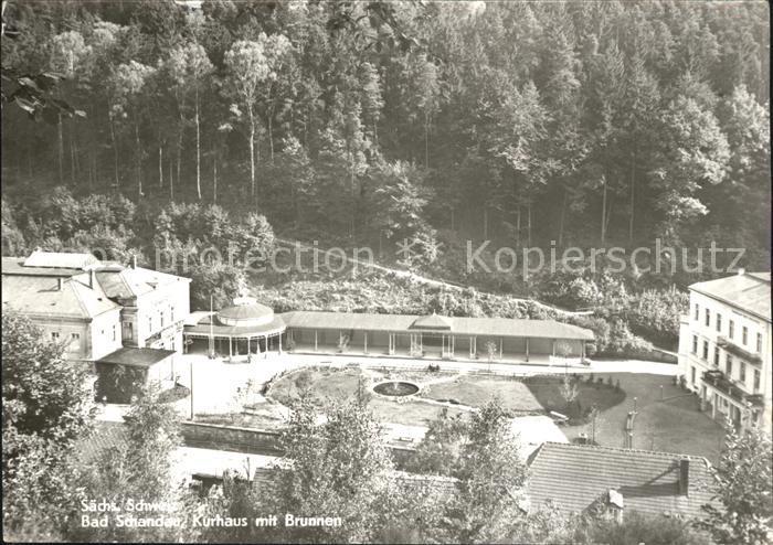 Bad Schandau Kurhaus Brunnen Kat. Bad Schandau