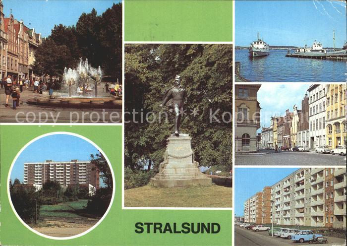Stralsund Mecklenburg Vorpommern Ossenreyer Strasse Rudolf Leonhard Weg Ferdinand von Schill Denkmal  Kat. Stralsund