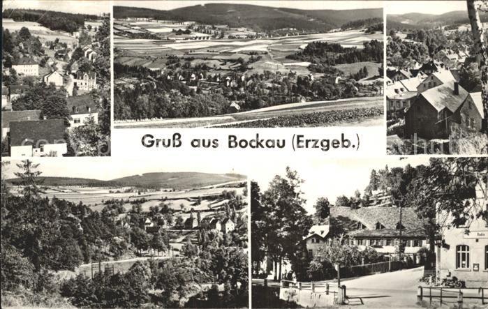 Bockau Erzgebirgskreis Panorama Teilansichten Kat. Bockau