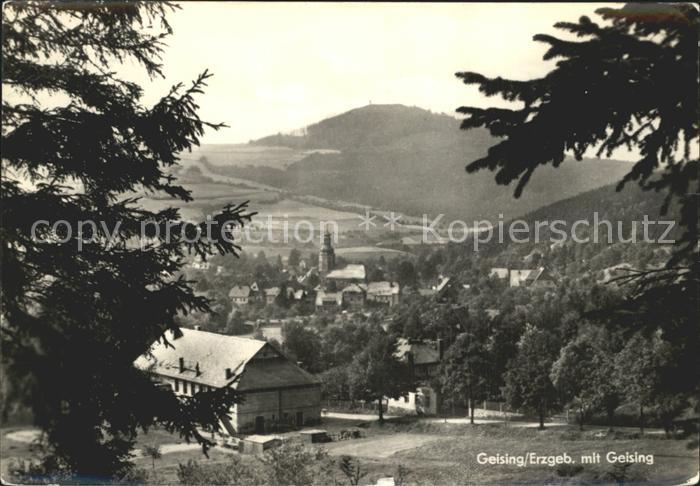Geising Erzgebirge mit Geising Kat. Geising Osterzgebirge