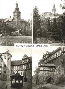Falkenstein Harz Burg Falkenstein Teilansichten Kat. Falkenstein Harz