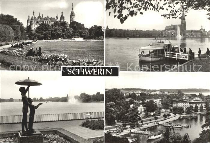 Schwerin Mecklenburg Schloss Bootsanleger Am Pfaffenteich Blick vom Schloss Kat. Schwerin