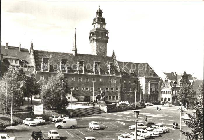 Zeitz Rathaus und Friedensplatz Kat. Zeitz