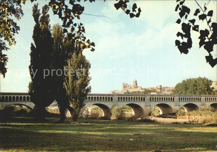 Beziers Pont Canal sur l Orb Cathedrale St Nazaire Kat. Beziers