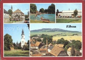 Eibau Ortsmotiv Freibad Sporthalle Am Kottmar Kirche Kat. Eibau