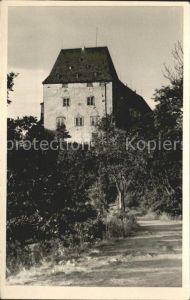 Burgk Saale Orla Kreis Schloss vom Sophienweg Kat. Burgk