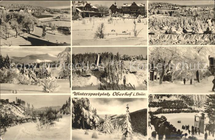 Oberhof Thueringen Teilansichten Wintersportplatz Sprungschanze Skispringen Kat. Oberhof Thueringen