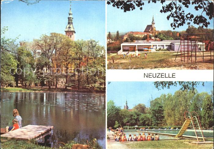 Neuzelle Klosterteich Kinderkrippe Schwimmbad Kat. Neuzelle