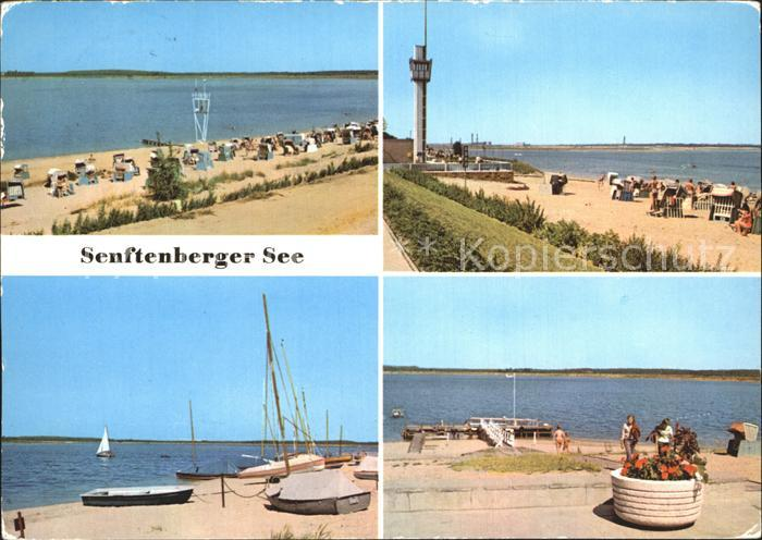 Grosskoschen Senftenberger See Strand Promenade Anleger Turm Kat. Senftenberg