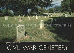 Vicksburg Mississippi Civil War Cemetery National Military Park Kat. Vicksburg