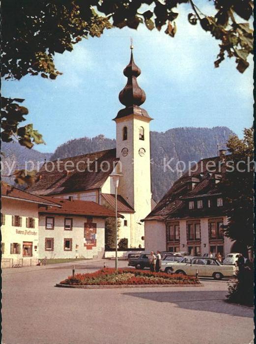 Inzell Dorfplatz Kirche Kat. Inzell