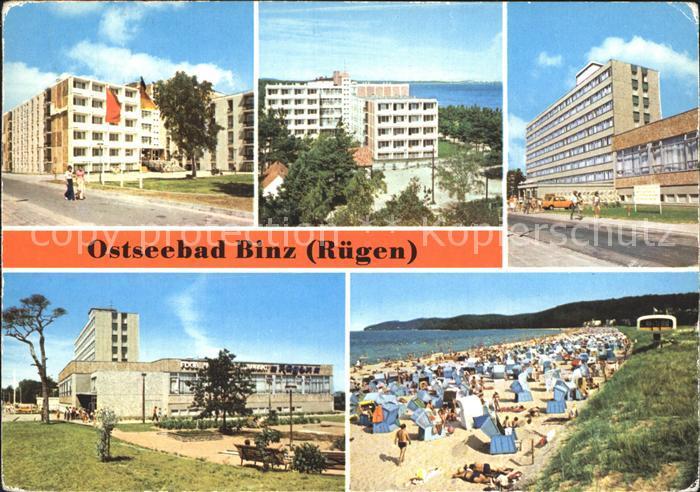 Binz Ruegen FDGB Erholungsheime Urlauberrestaurant Strand Kat. Binz