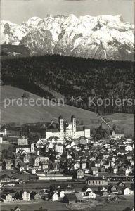 Einsiedeln SZ Blick auf das Kloster Alpenpanorama Kat. Einsiedeln