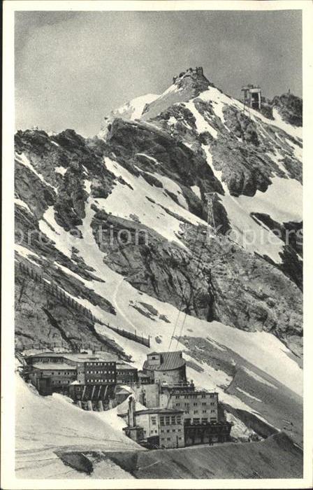 Zugspitze Bayerische Zugspitzbahn Hotel Schneefernerhaus Gipfelstation Muenchener Haus Kat. Garmisch Partenkirchen