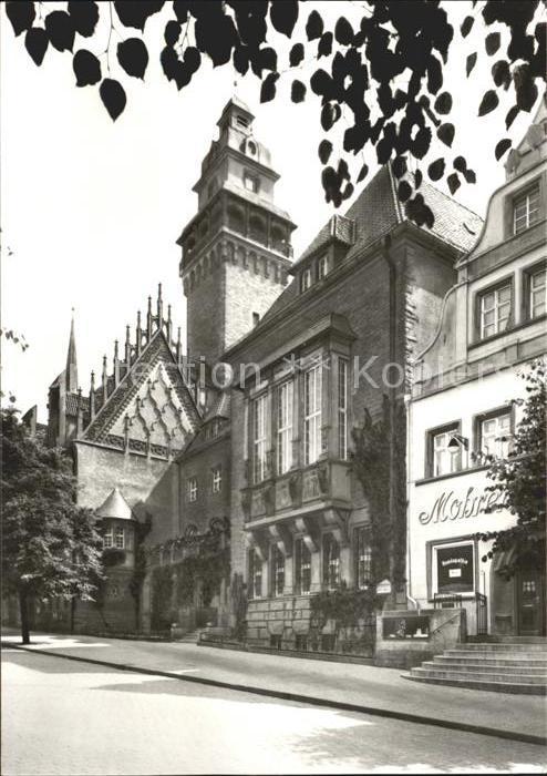 Zeitz Rathaus mit gotischem Giebel Kat. Zeitz