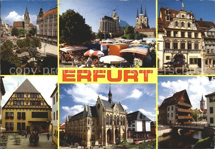 Erfurt Kaufmannskirche Dom Stiftskirche Galerie Fischmarkt Haus Zum Roten Ochsen Standesamt Rathaus Kat. Erfurt