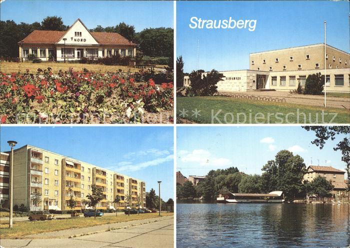 Strausberg Brandenburg HO Gaststaette Haus der NVA Neubauter Josef Zettler Ring Faehre Kat. Strausberg