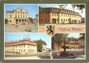 Weimar Thueringen Nationaltheater Goethe Nationalmuseum Haus der Frau von Stein Schillerhaus Kat. Weimar