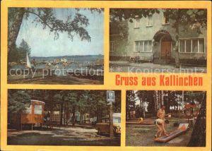 Kallinchen Badestrand See Gaststaette Minigolf Campingplatz Kat. Zossen