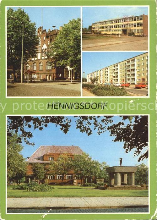 Hennigsdorf Rathaus Schule Hradeker Strasse Post Leninstrasse Kat. Hennigsdorf
