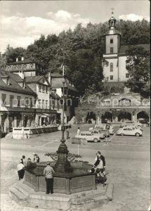 Leutenberg Thueringen Marktplatz Brunnen Kirche Kat. Leutenberg