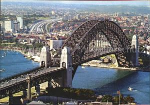Sydney New South Wales Harbour Bridge Express Way North Shore aerial view Kat. Sydney