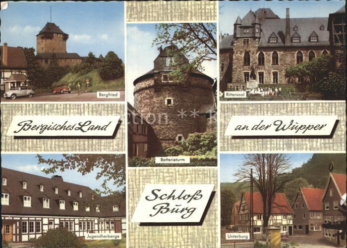 Wuppertal Schloss Burg Unterburg Rittersaal Batterieturm Bergfried Kat. Wuppertal