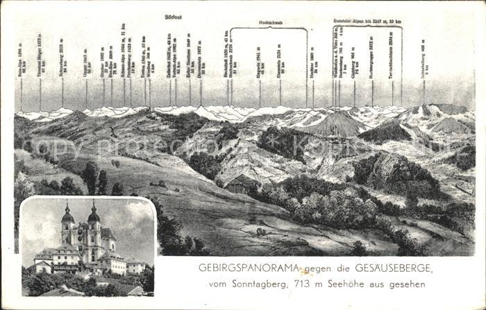 Rosenau Hengstpass Gesaeuseberge vom Sonntagberg Kat. Rosenau am Hengstpass