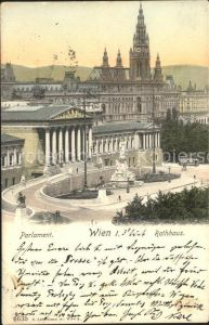 Wien Parlament Rathaus Kat. Wien