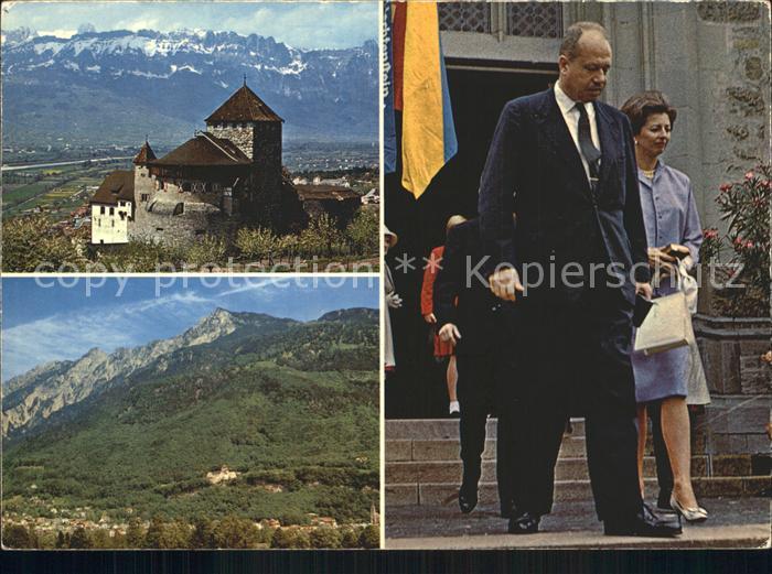 Vaduz Schloss Rheintal Kreuzberge Fuerst Franz Josef und Fuerstin Gina von Liechtenstein Kat. Vaduz