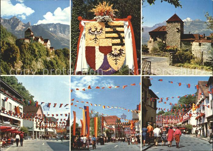 Vaduz Fuerstentum Schloss Vaduz Strassenpartien Kat. Vaduz