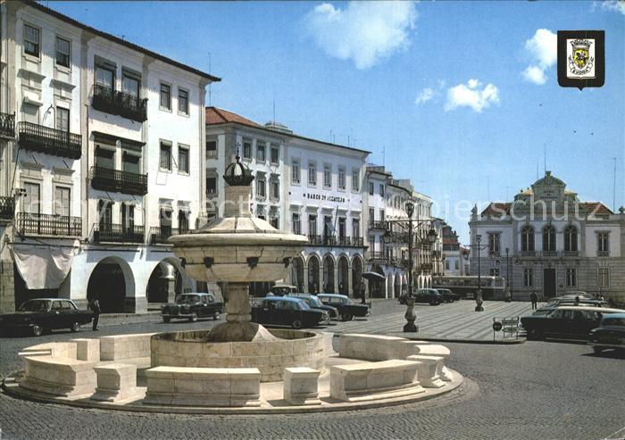 Evora Place du Giraldo Fontaine Henriquina Kat. Evora