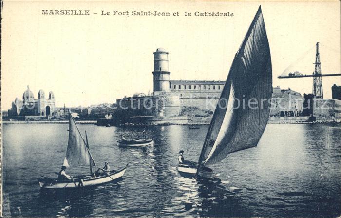 Marseille Le Fort Saint Jean et la Cathedrale Kat. Marseille