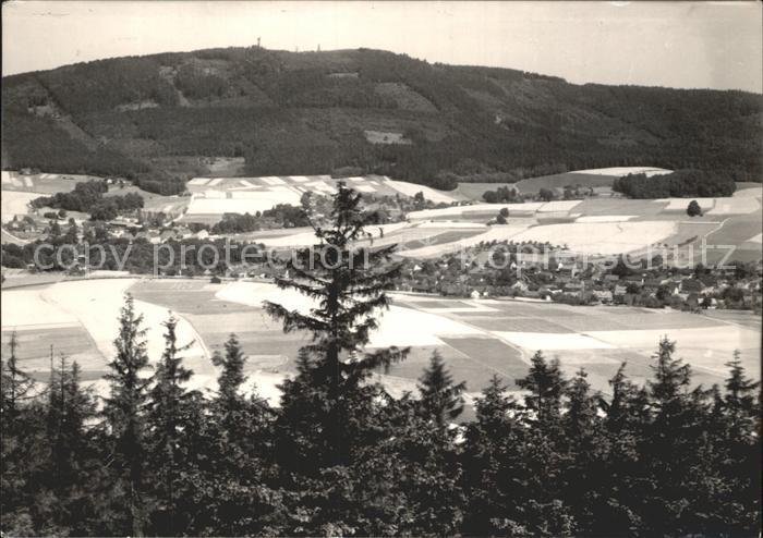 Cunewalde Panorama Blick vom Bieleboh Czorneboh Oberlausitz Kat. Cunewalde