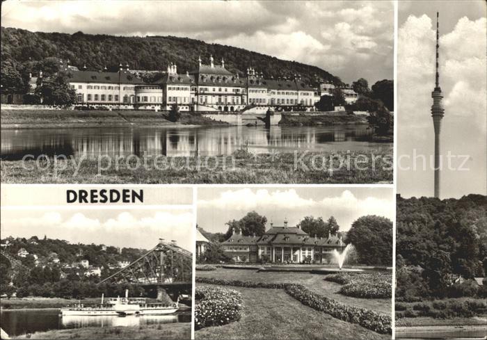 Dresden Schloss Pillnitz Bergpalais Museum Fernsehturm Loschwitz Kat. Dresden Elbe