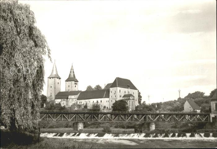 Rochlitz Sachsen Partie an der Mulde Bruecke Schloss Kat. Rochlitz