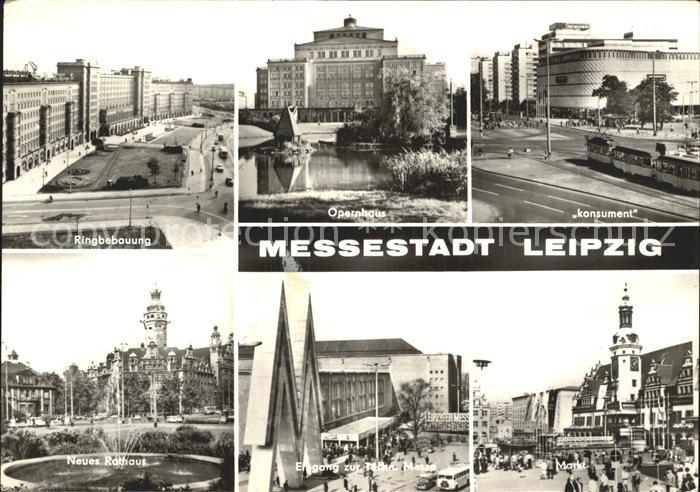 Leipzig Ringbebauung Opernhaus Konsument Rathaus Messe Markt Kat. Leipzig