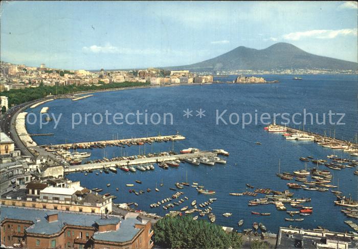 Napoli Neapel Marina di Mergellina Hafen Kueste Kat. Napoli