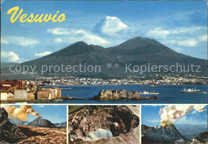 Napoli Neapel Vusuvio Vulkan Vesuv Kat. Napoli