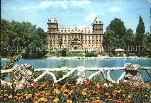 Torino Il Po e il Castello del Valentino Schloss Kat. Torino