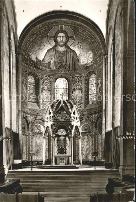 Maria Laach Glees Abteikirche Ostchor mit Hochaltar / Glees /Ahrweiler LKR