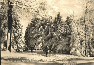 Walddorf Sachsen Winter auf dem Kottmar Oberlausitz Kat. Eibau