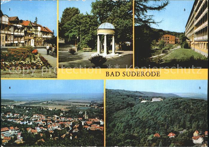 Bad Suderode Rathausplatz Behringer Brunnen Kurpark Sanatorium Thomas Muenther Turm Kat. Bad Suderode