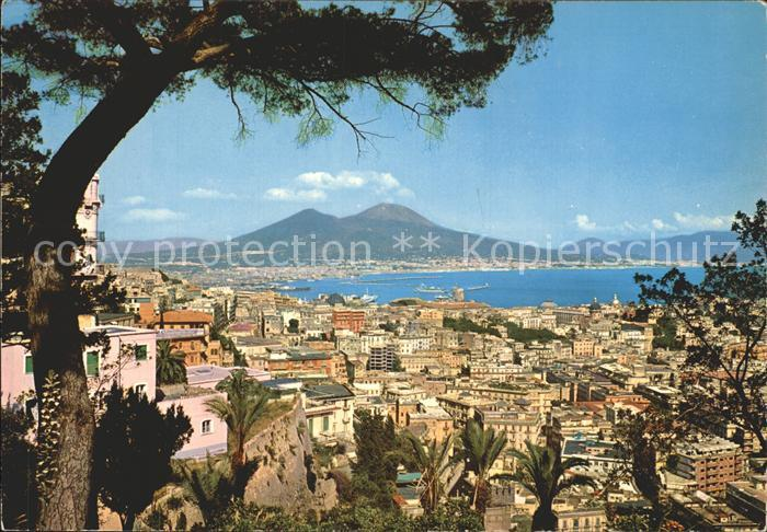 Napoli Neapel Panorama Vulkan Vesuv Kat. Napoli
