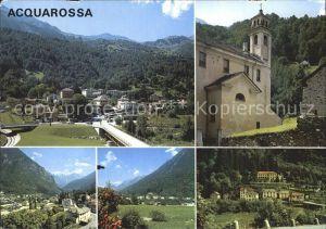 Acquarossa Total und Teilansichten Kirche Valle di Blenio Kat. Acquarossa
