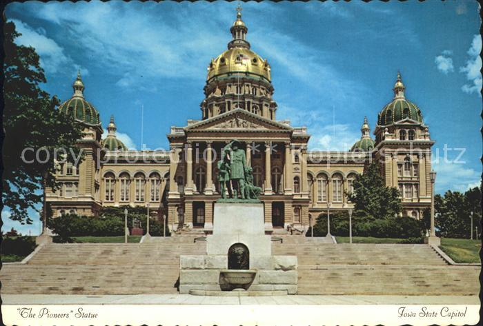 Des Moines Iowa The Pioneers Statue Iowa State Capitol Kat. Des Moines