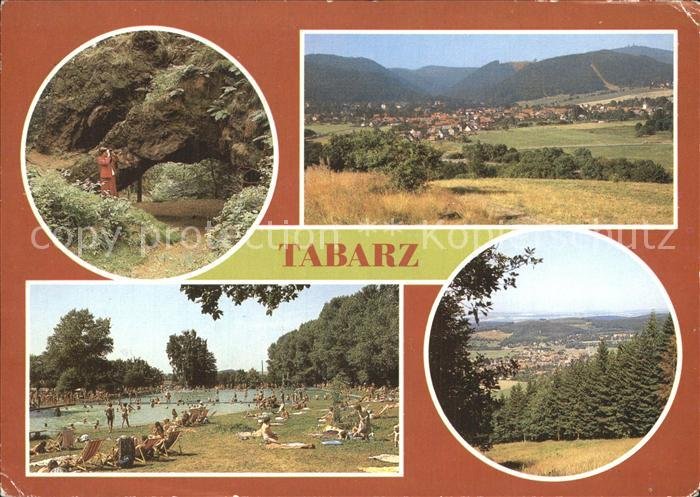 Tabarz Torstein Lauchagrund Inselsberg Freibad OT Cabarz Kat. Tabarz Thueringer Wald