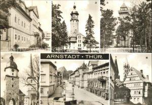 Arnstadt Ilm Schloss Neideckturm Berggasthaus Alteburg Riedtor Jakobsturm Zimmerstr Papiermuehle Kat. Arnstadt