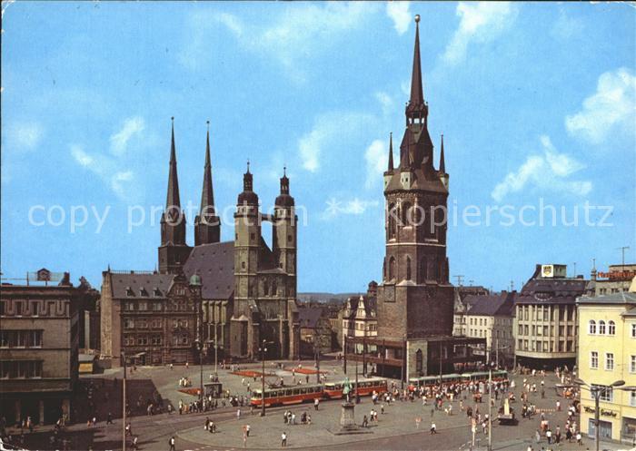 lithographie halle saale postgeb ude katholische kirche marktplatz mit rathaus nr 6305860. Black Bedroom Furniture Sets. Home Design Ideas