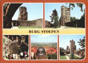 Stolpen Burg Siebenspitzenturm Johannisturm Brunnen Schloesserturm Seigerturm Kat. Stolpen